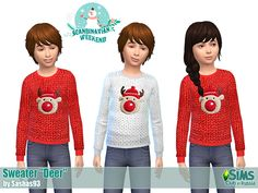 Sims 4 CC's - The Best: Christmas Sweater for Kids by Sashas93