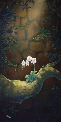 Solitary Orchid _ 18x24 _ Rob Kaz