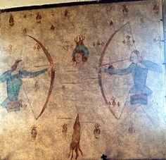 Martyrdom of St. Edmund, Weare Giffard (88KB)