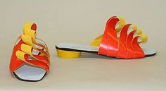 Much admired designer Beth Levine (married to Herbert whose name is on them) produced these flaming sandals in 1968,