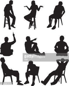 Arte vettoriale : Silhouette di persone in diverse attività