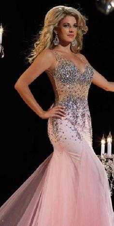 Elegant Pink V-neck Trumpet Floor Evening Dresses In Stock tkzdresses16542xdf #longdress #promdress