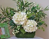 Cream Hydrangea Floral Arrangement!  Like what you see Check out our store at elizabethkatedecor.etsy.com!