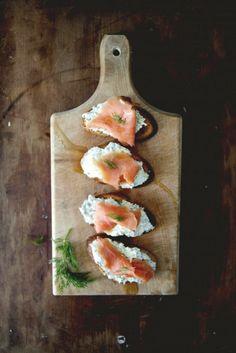 Ricotta Salmon Crostini