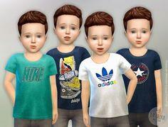 T-Shirt Toddler Boys - The Sims 4 Catalog Sims 4 Toddler Clothes, Sims 4 Cc Kids Clothing, Toddler Boy Outfits, Toddler Fashion, Toddler Boys, Kids Outfits, Child Fashion, Sims 4 Children, 4 Kids