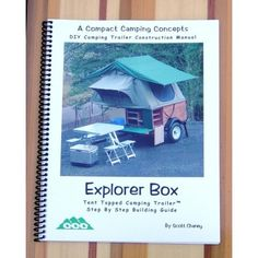 These are DIY plans for a super-duper lightweight camper that can be towed with almost any vehicle, including a motorcycle!    http://compactcampingconcepts.com/Store/273-thickbox/explorer-box-plans-manual.jpg