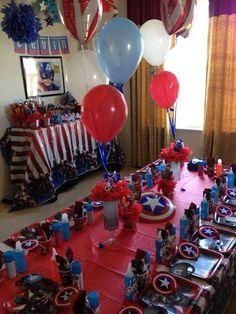 Ideas de decoración para fiestas infantiles capitán América