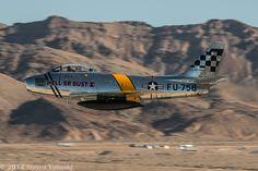 "https://flic.kr/p/qdsJL1 | Canadair F-86E MK.6 Sabre | NX1F / FU-756  ""HELL-ER-BUST X""  Aviation Nation 2014  Nellis AFB, NV USA"