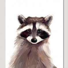 Katie and the Wolf Print - Rocky Raccoon - Available from www.itchgallery.co.uk