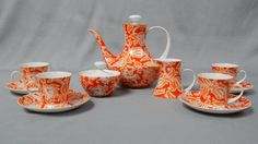 Gorgeous Vintage Espresso Service for Four by by SlyfieldandSime, $108.00
