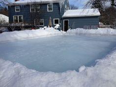 Fun On Backyard Ice Skating Rinks Every Winter