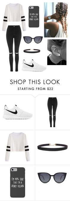 """Untitled #109"" by ladivazamendes on Polyvore featuring NIKE, Topshop, Humble Chic, Disney and Fendi"