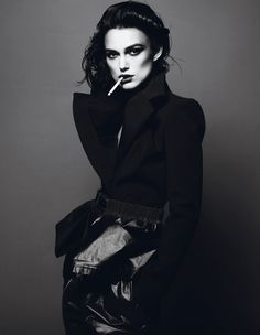 Keria Knightley works monochrome so well!!