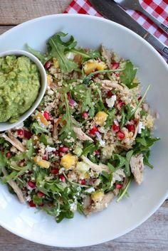 Kylling- og quinoasalat