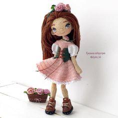 """1,507 Likes, 51 Comments - Кукольная лаборатория❤Оля_ка © (@olyaka_lab) on Instagram: """"Куколка Марго Цветочница , обожает розы , занимается выведением разных сортов в своём саду …"""""""