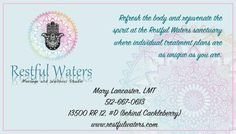 Refresh the body and rejuvenate the spirit at the Restful Waters sanctuary where individua... Restful Waters Massage and Wellness Studio - Wimberley, TX #texas #SanMarcosTX #shoplocal #localTX