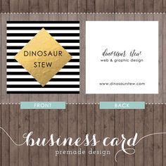 square business card design - gold foil - we design, you print with moo by DinosaurStew on Etsy https://www.etsy.com/listing/200090074/square-business-card-design-gold-foil-we