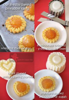 Bake for Happy Kids: Pineapple Tarts Again! Tart Recipes, Sweets Recipes, Asian Recipes, Desserts, Chinese Recipes, Baked Pineapple, Pineapple Tart, Yummy Eats, Yummy Food