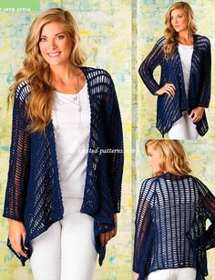 Ravelry: Georgianna Jacket pattern by Mona Modica Crochet! Magazine, Spring is available on the magazine rack. Crochet Coat, Crochet Shirt, Crochet Jacket, Crochet Cardigan, Crochet Scarves, Crochet Clothes, Crochet Vests, Crochet Sweaters, Moda Crochet
