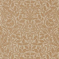 Arts & Crafts textile designer William Morris designed this wallpaper using wood blocks to hand print the pattern, curating a scene of acorn branches adorned with willow and oak leaves in a monochromatic hue. Its warm tone and whimsy quality invites a Print Wallpaper, Fabric Wallpaper, Wallpaper Roll, Pattern Wallpaper, Wallpaper Awesome, Wallpaper Designs, Morris Wallpapers, William Morris Wallpaper, Iphone Wallpapers