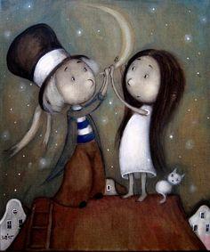 Wish by Grzegorz Ptak by GrzegorzPtakArt on DeviantArt Moonlight, Fairy Tales, Snoopy, Christmas Ornaments, Holiday Decor, Kids, Fictional Characters, Inspiration, Magic