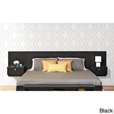 Valhalla Designer Series Floating King Headboard with Integrated Nightstands | Overstock.com