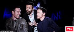 James McAvoy, Michael Fassbender, Hugh Jackman