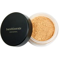 Bare Minerals Bareminerals Original Foundation Broad Spectrum Spf 15 (34 AUD) ❤ liked on Polyvore featuring beauty products, makeup, face makeup, foundation, light, bare escentuals foundation, bare escentuals, mineral foundation and creamy foundation