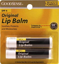 Good Sense Original Lip Balm with Spf-4 Twin Pack 2/0.15 oz. (48 Units Included) 2 Pack - Andalou Naturals 1000 Roses Absolute Serum 1 oz