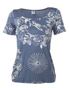 SWAY | Irene Short Sleeve T-Shirt in Indigo -  - Style36 Indigo, Irene, Sweatshirts, Maya, Fashion Ideas, Mens Tops, T Shirt, Stuff To Buy, Sleeve