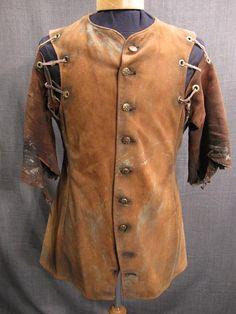 09014667 Doublet Medieval Distressed, brown leather, C38.JPG