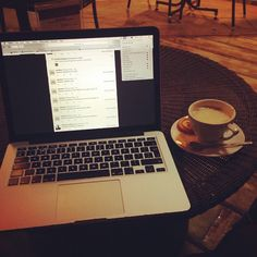 Because after a long time I'm going to Le Patio. Had my best hot drink.  #iphone #cappuccino #macbook #mac #chilling #patio #coffee #Padgram