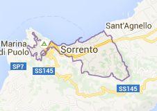 Map of Sorrento Włochy