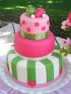 Strawberry Shortcake... Kayla's 1st Bday cake?