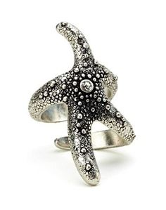Lucky Brand Jewelry Antiqued Silver Starfish Ring with Set Crystal Center, Bohemian Style Size Crafts & Sewing Antique Jewelry, Antique Silver, Jewelry Box, Jewelry Watches, Jewellery, Starfish Ring, Lucky Brand Jewelry, Cute Rings, Bohemian Style