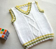Knitting Patterns Vest Children hand knitted wool vest, Knitted Baby Toddler Vest, Boy white vest, Tank top for boy Baby Cardigan, Baby Boy Vest, Toddler Vest, Baby Boys, How To Start Knitting, Knitting For Kids, Baby Knitting, Knitted Baby, Beginner Knitting