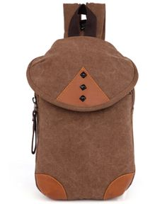 5ca42cc1a4 ... Unisex Vintage Canvas Unbalance Cross Body Shoulder Sling Bag Chest  Packs     New and awesome product awaits you