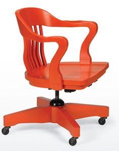 office, work, desk, chair, office chair, desk chair, swivel chair, orange chair, colorful chairs,