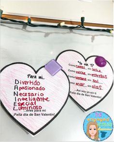 Spanish poetry, spanish writing activity, spanish class activities, el dia de San Valentin, Valentine's Day, Spanish Valentine's Day Poetry Activities: Poesía para El Día de San Valentín These can also be used for Mother's day! (El día de la madre!)