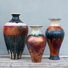 Amazing Raku Vases by Adam Pennington