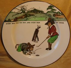 Rare Royal Doulton Crombie Golf Series 2 Handled Trophy