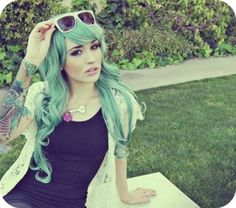 blue and green hair - Google Search