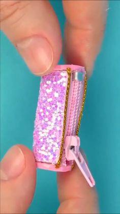 Shiny diy handmade wallet production video tutorial