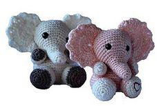 Elephant pattern by Elizabeth Jayne Biggest Elephant, Elephant Pattern, Little Elephant, Small One, Double Knitting, Pattern Design, Larger, Hello Kitty, Safety