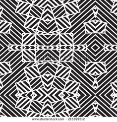 Abstract decorative refracted ethnic motif geometric ornament. Seamless pattern. Vector. - stock vector