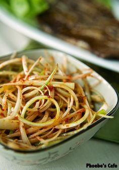 파절이 레시피, 한국 요리, 곁 반찬 음식