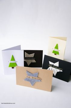 DIY: make your own Christmas cards quickly and easily DIY:Weihnachtskarten ganz einfach und schnell selbermachen – BerriesandButtercup Diy Christmas Cards, Xmas Cards, Diy Cards, Christmas Time, Christmas Crafts, Greeting Cards, Diy 2019, Craft Fairs, Homemade Cards