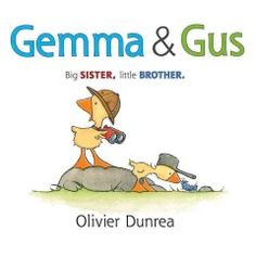 JJ HUMOR DUN. Gemma is a small yellow gosling who likes to lead and her brother is a smaller yellow gosling who likes to follow.