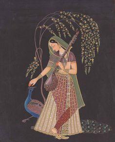 Mughal Paintings: Radha - 3