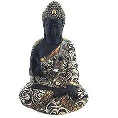 Statua in resina Buddha Thailandese Nero e Oro 29cm Subitodisponibile http://www.amazon.de/dp/B01CINR40A/?m=A37R2BYHN7XPNV